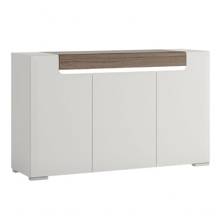 Toronto 3 Door 1 Drawer Sideboard (inc. Plexi Lighting).
